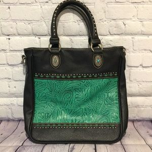 Montana West Trinity Ranch Turquoise shoulder bag